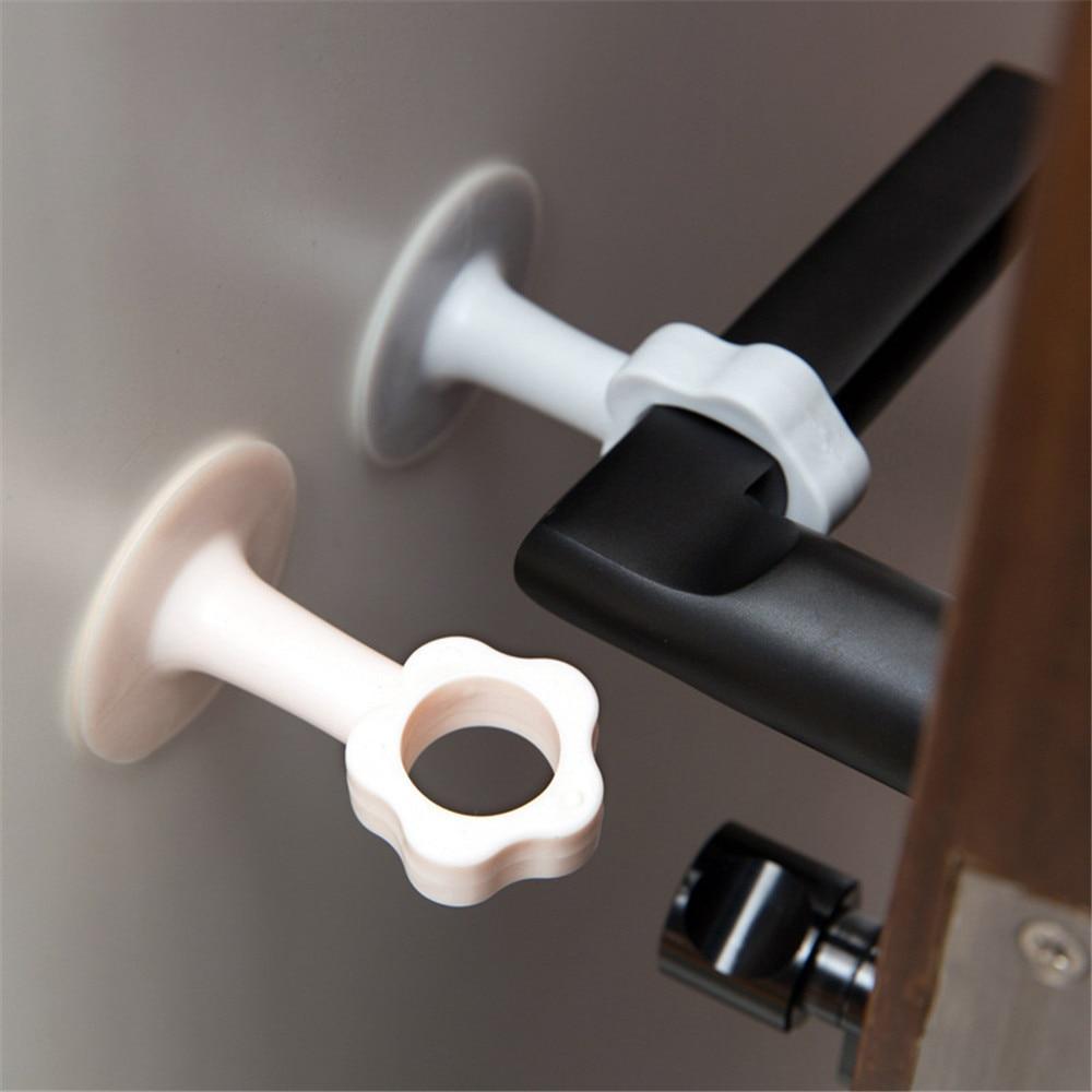 3pcs Doorknob Wall Mute Crash Pad Door Cabinet Handle Lock Silencer Anti Collision Silicone Cushion Flower Door Stopper