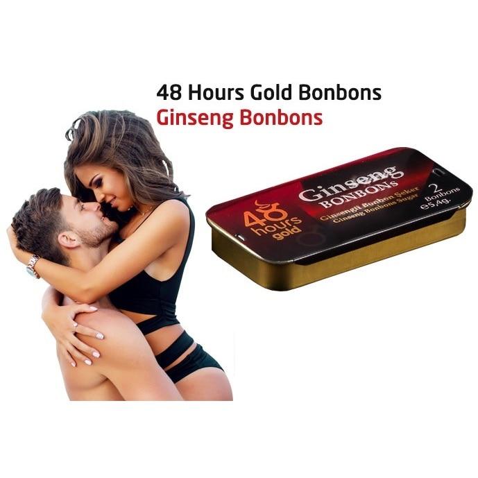 Afrodisíaco bonbon açúcar ginseng epimedium erval desempenho sexo delayer masculino 48 horas