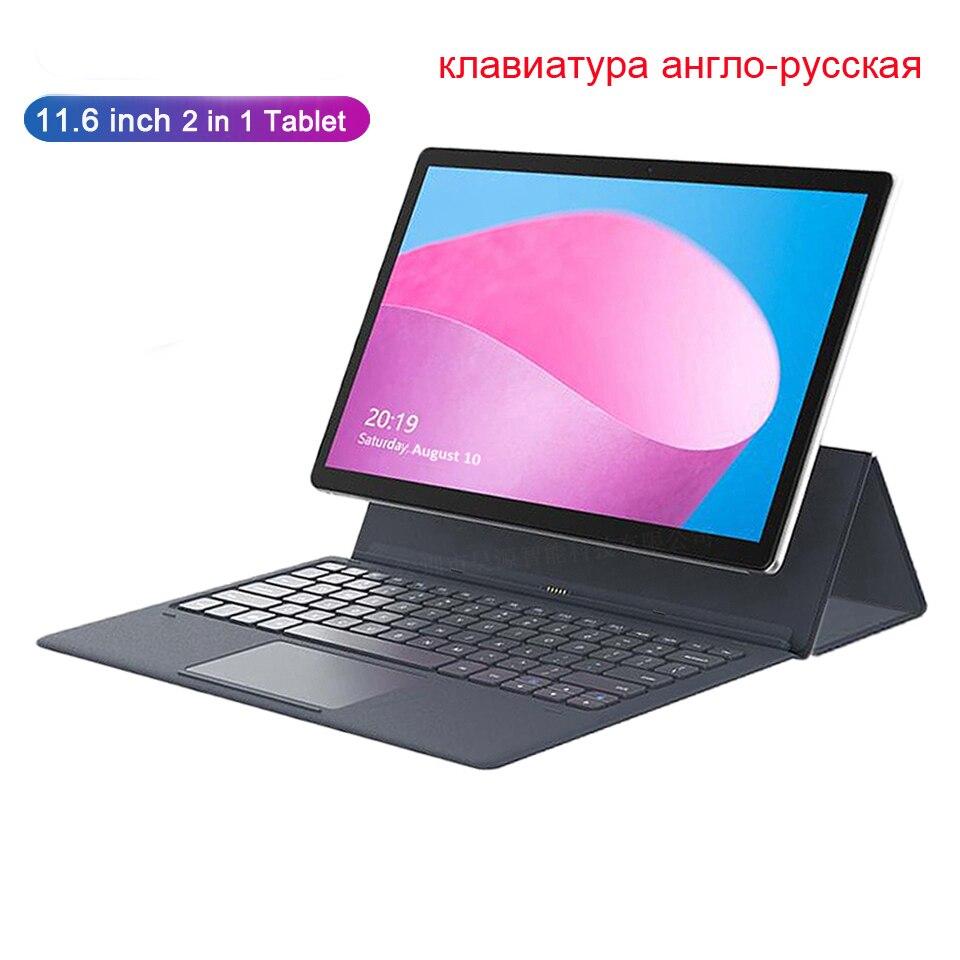 Tablet portátil 11.6 Polegada mtk6797 (x27) deca-core android 8.0 128 gb rom câmera 13.0mp 4g lte 2 em 1 tablet portátil com teclado
