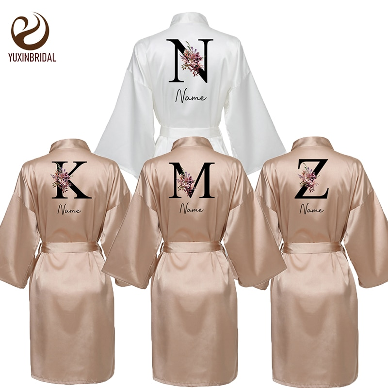 brand new silk satin women robe Personalised Names Satin Silk Bride Robe Wedding Robe for Women Robe  Wedding Bride Robe Bridesmaid Night Robe Rose Gold