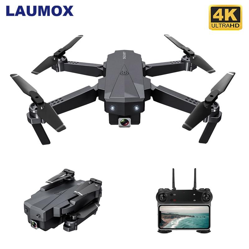 LAUMOX SG107 Mini RC Drone FPV Quadcopter con WIFI 4K 1080P Cámara FPV 2,4 GHZ de flujo óptico plegable Dron del E58 SG106 XS816