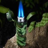 outdoor torch turbine lighter butane jet flame waterproof windproof lighting camping lifesaving igniter cigarette accessories
