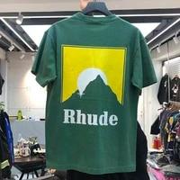 rhude t shirt men women t shirts 2020 new casual rh hairstyle image logo print rhude tee high quality summer spring tops