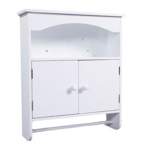 【US Warehouse】Bathroom Wall Top Cabinet White  Drop Shipping USA