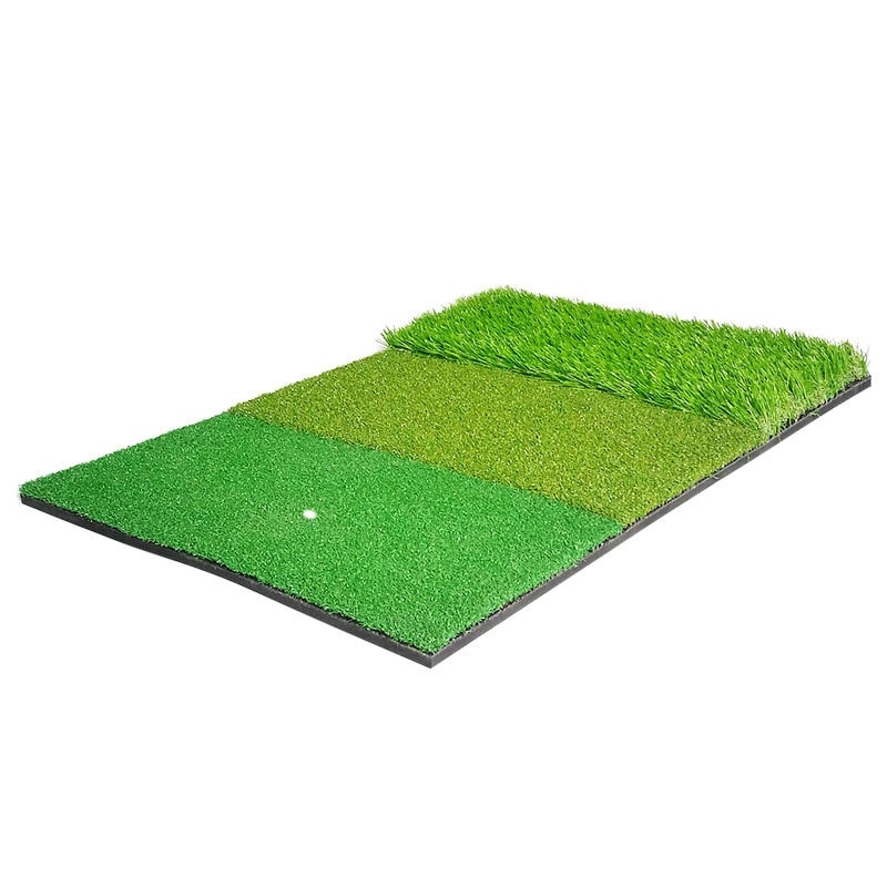 BMDT-Golf Practice Mat Hitting Mat for Outdoor Indoor Golf Training Aids Green 3 Colors Long and Short Grass 40X60cm