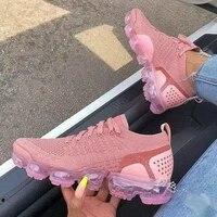 2021 sneakers women casual shoes mesh air cushion flat anti slip women sneaker outdoor trainer female sport running shoes 43