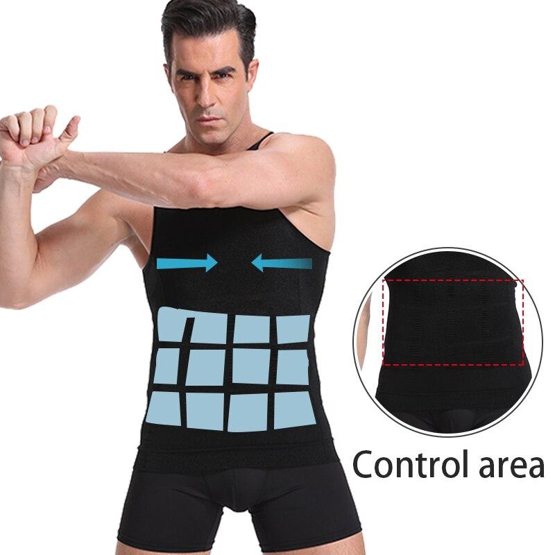 Modelador de Cuerpo Adelgazante para hombre, ropa interior modeladora para moldear la figura, corsé corrector de postura para entrenador de cintura
