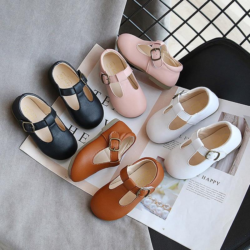 Сезон весна осень; Детская обувь с Т образным ремешком, туфли из настоящей кожи для мальчиков и девочек Нескользящие носки для малышей в стиле «Мэри Джейн» Детская обувь с пряжкой Buckle Strap Flats|Кожаная обувь| | АлиЭкспресс