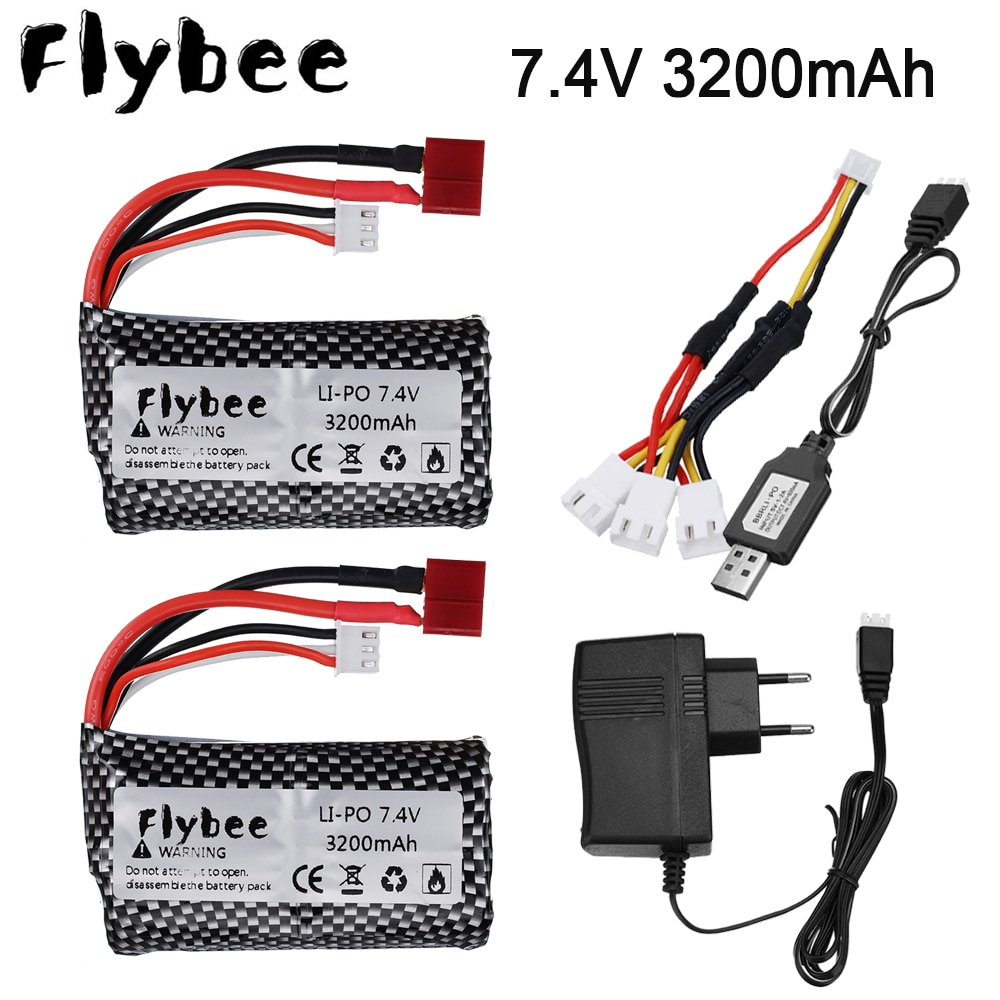 18650 7.4V 3200mAh 2S Lipo Battery For kids toys RC Racing car battery remote control RC helicopter
