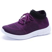 Women Sneakers Shoes 2019 Summer Fat Platform Shoes Woman Mesh Walking Shoes Slip On Flats Casual Ladies creepers Sock Shoe35-41