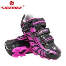 Sidebike chaussures de cyclisme sapatilha ciclismo vtt femmes baskets résistant à lusure et respirant auto-verrouillage VTT chaussures de course
