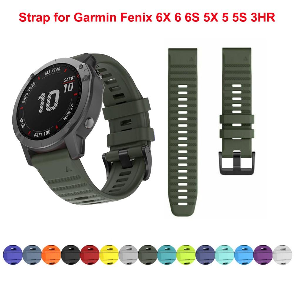 Ремешок-из-мягкого-силикона-для-наручных-часов-быстросъемный-браслет-для-garmin-fenix-6-6s-6x-5x-5-5s-3-hr-watch-easyfit-26-мм-22-мм