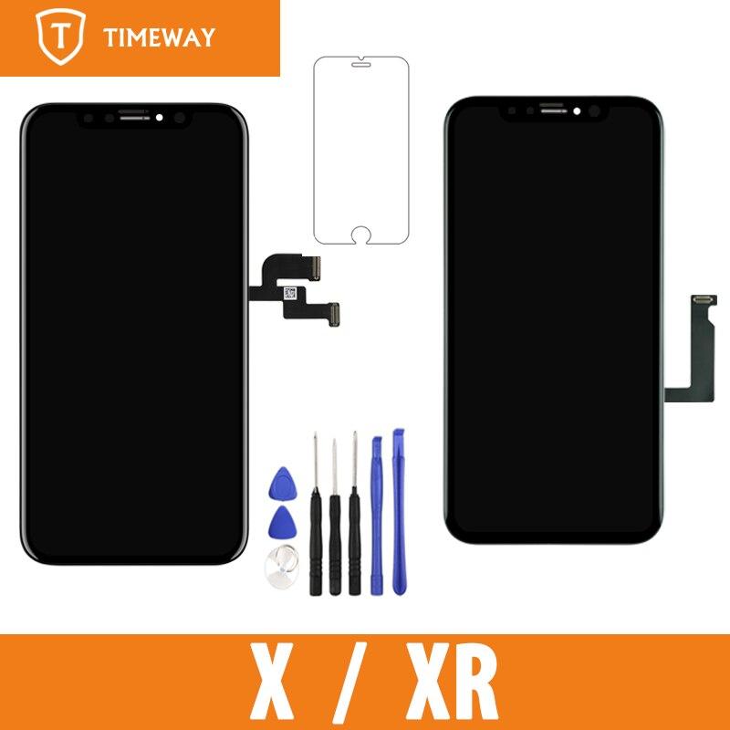الصف Tianma OLED OEM آيفون X/ XR شاشة LCD تعمل باللمس مع محول الأرقام استبدال أجزاء الجمعية الأسود