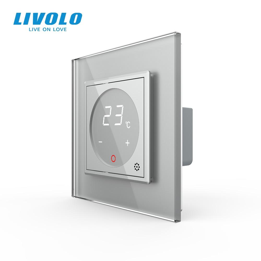 Livolo Smart Thermostat  EU Standard  Temperature Control, floor heating thermostat ,4 colors Crystal Glass Panel , AC 110-250V
