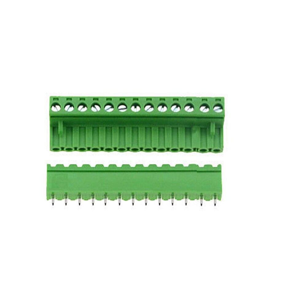 5 conjuntos ht5.08 em linha reta 13 14 15 16 18 20 22 24 pinos terminal plug tipo 300v 10a 5.08mm passo pcb conector parafuso bloco terminal