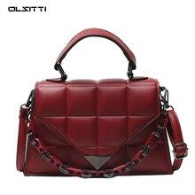 OLSITTI High Quality Stone Pattern Chain Shoulder Bags for Women 2021 Designer Fashion Luxury Small