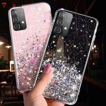 Silver Foil Bling Glitter Case For Samsung Galaxy A01 A02S A11 A21 A21S A31 A41 A51 A71 A12 A32 A42 A52 A72 5G Silicone Cover