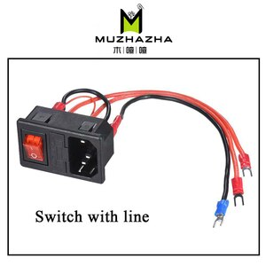 3D Printer Parts 220V/110V 15A Power Supply Switch Male Socket with Fuse for 3D Printer DIY 3D Printer Accessories
