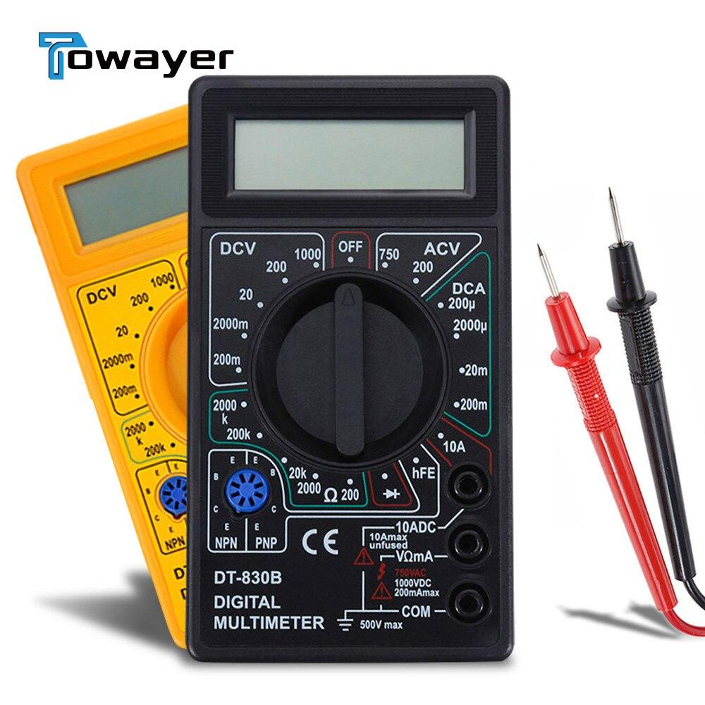 Цифровой мультиметр для вольтметра, амперметра, омметра с ЖК дисплеем, 750 В переменного/постоянного тока, 1000 в