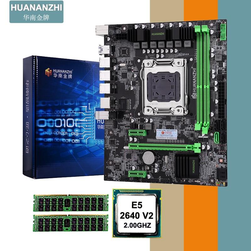 WUSON store recommend HUANANZHI X79 motherboard CPU memory combos CPU Intel XEON E5 2640 V2 RAM 2*8G DDR3 REG ECC computer DIY
