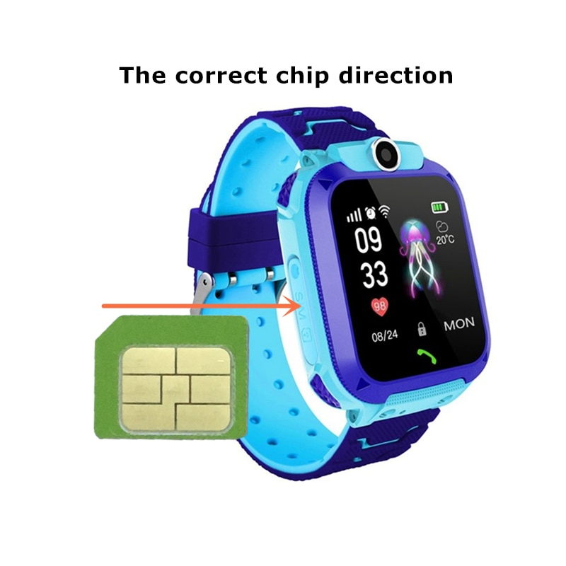 Kids Smart Watches English Version Waterproof Antilost Children Touch Scree Intelligent Watch LBS Positioning Talking Watch