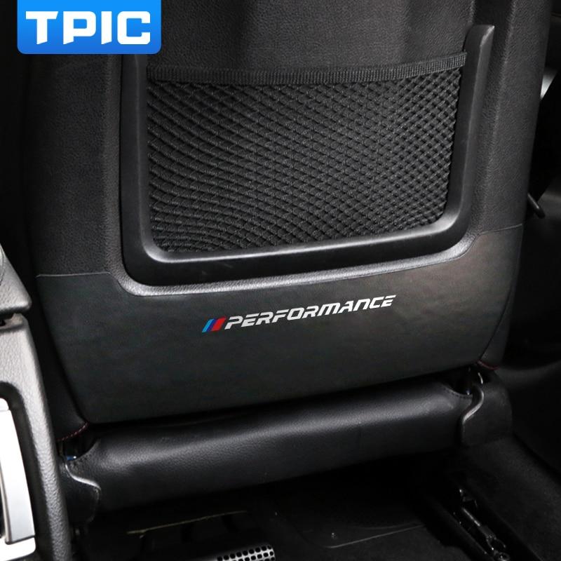 TPIC автомобильный анти-грязный коврик, защитные ПВХ наклейки, накладка на заднее сиденье, автомобильный Стайлинг для BMW E90 F20 F30 F34 F36 X1 E84 аксесс...