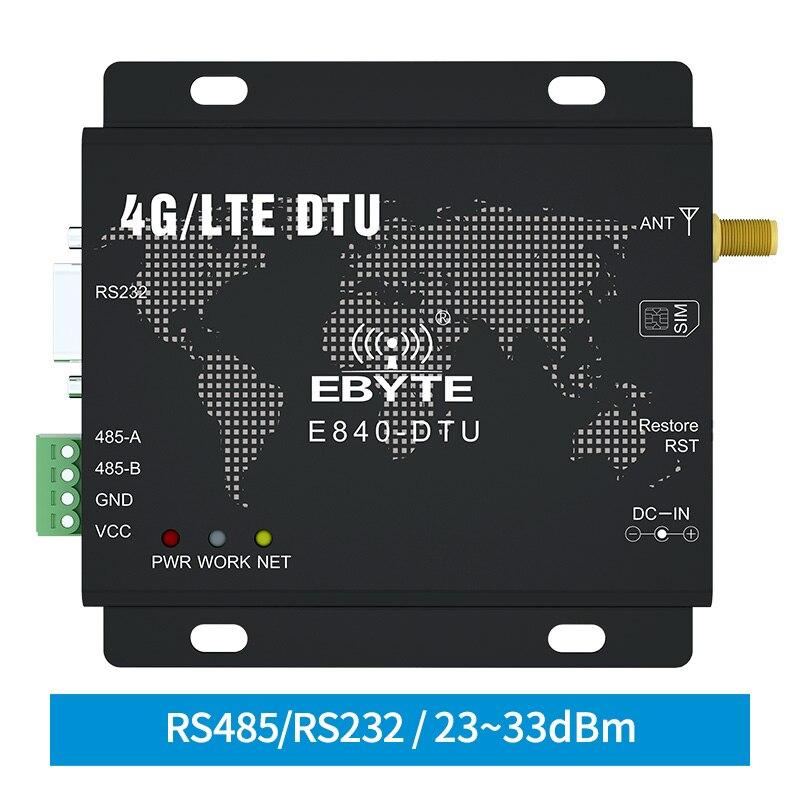 4G LTE RS232 RS485 وحدة Modbus RTU TCP LTE-FDD WCDMA نظام حماية GSM لاسلكي الإرسال والاستقبال شفافة مودم ebyte E840-DTU(4G-02E)