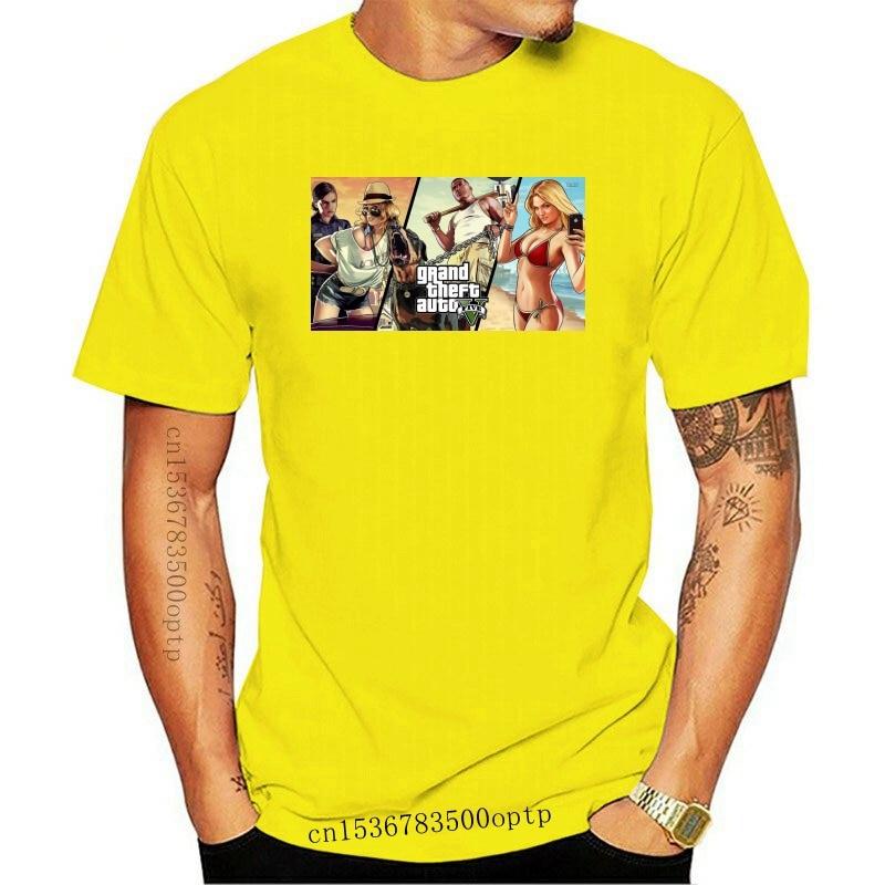 New 2021est Quality GTA Game Printed T-Shirt Men Hip Hop Funny Anime T Shirt Tee Men White Tshirt women tshirt