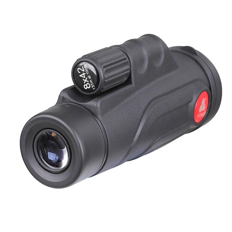 SCOKC Monocular 8x42 lente de vidrio telescopio de enfoque manual Prisma de BAK4 para caza senderismo binoculares de avistaje de aves
