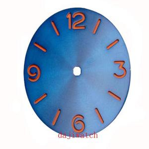 Aseptic set with 38.9mm sandwich blue dial suitable for ETA 6497 6498 st3600 movement