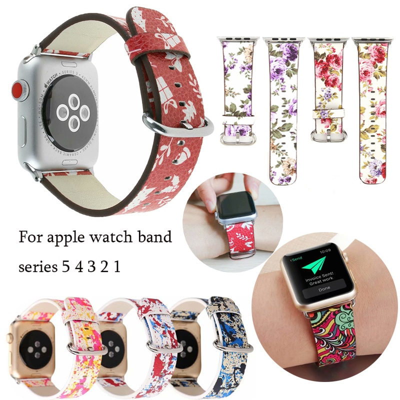 natural genuine leather loop band for apple watch 42mm 38mm women men sport strap for iwatch series 4 3 2 1 40mm 44mm wrist band Genuine leather loop strap for apple watch band 42mm 38mm watch band for iwatch 44mm 40mm 5/4/3/2/1 correa bracelet accessories