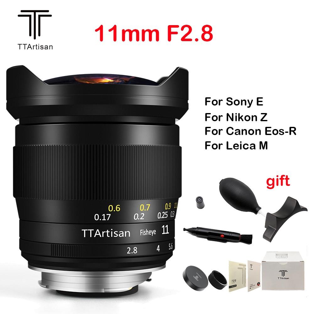 TTArtisan 11 مللي متر F2.8 عدسة الكاميرا كامل الشهرة فيش عدسة يدوية ل Leica متر L جبل/كانون RF/نيكون Z كاميرات مثل M-M M9 M10 سوني