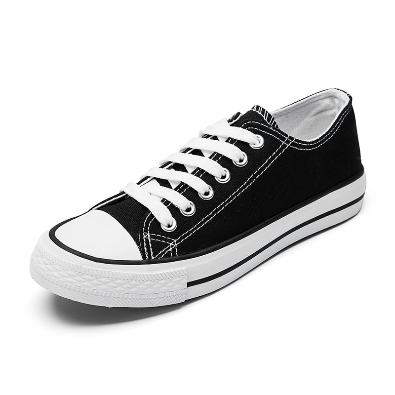 ¡Novedad de 2020! Zapatos de lona clásicos de alta calidad para mujer, zapatos planos bajos de otoño, zapatos vulcanizados de fábrica, zapatos informales para mujer