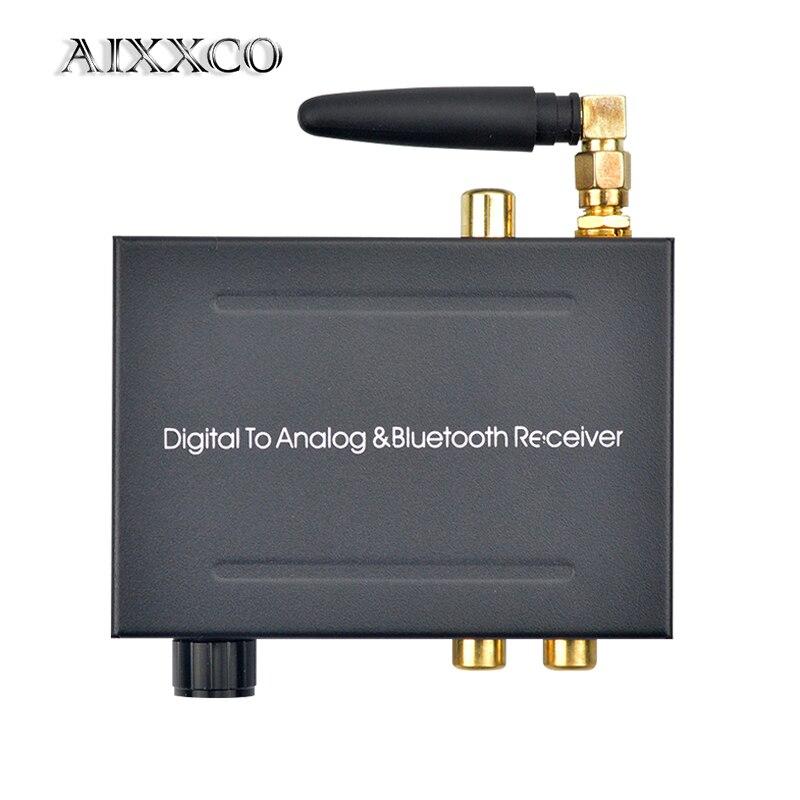 AIXXCO 192khz Bluethooth DAC convertisseur Audio numérique vers analogique avec récepteur Bluetooth avec contrôle du Volume