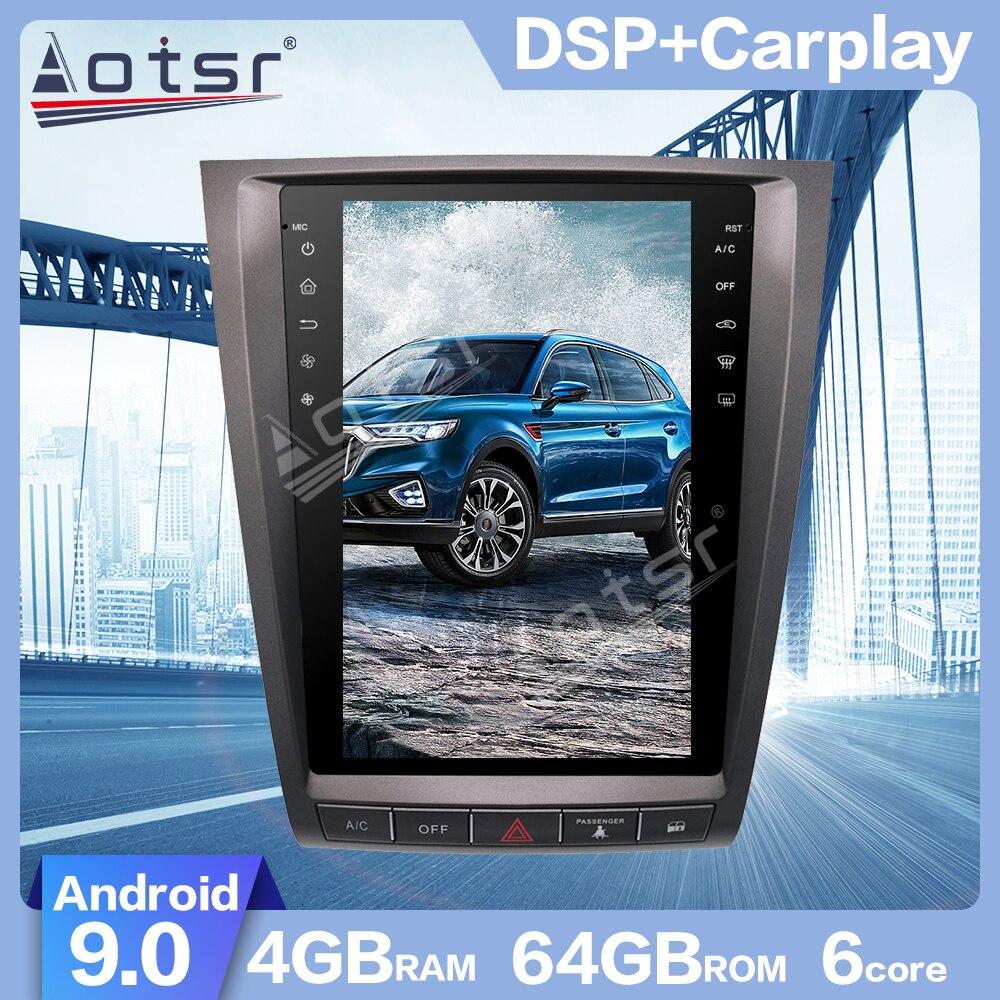 AOTSR Android 9,0 estilo Tesla PX6 DSP GPS para coche de navegación para Lexus GS GS300 GS460 GS450 GS350 2004-2011 arranque rápido, carplay