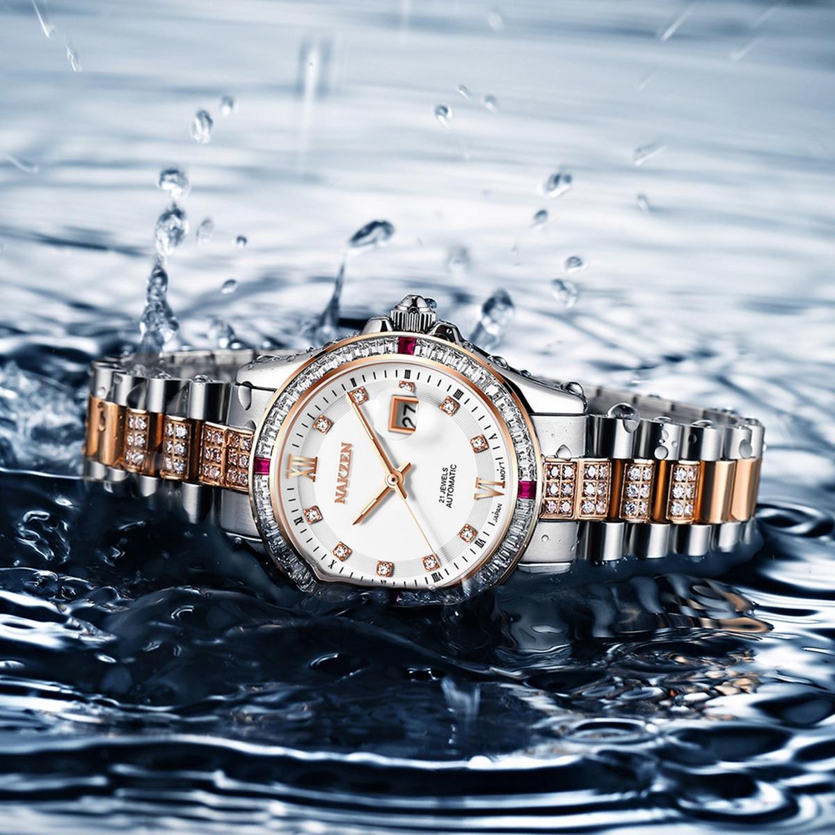 Women's Watches Rhinestone Fashion Women Wrist Watch Luxury Automatic Mechanical Ladies Watch Women Bracelet Reloj Mujer Clock enlarge