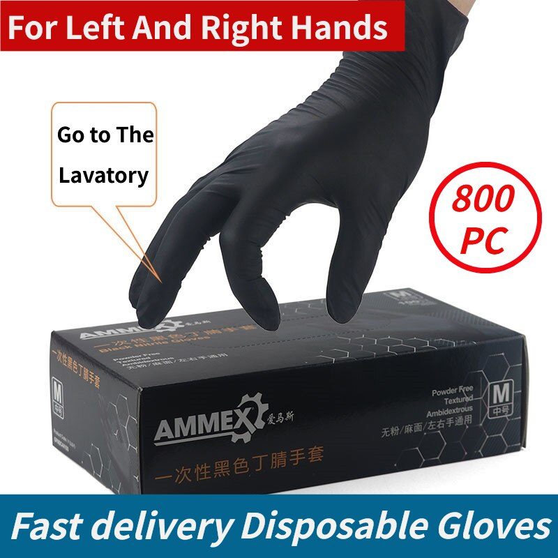 100PC Nitrile Disposable Gloves Waterproof Powder Free Latex Gloves For Household Kitchen Laboratory Cleaning Gloves Home