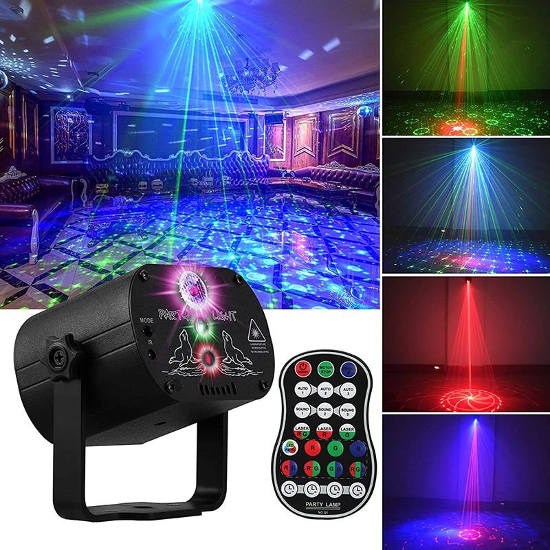 luzes da festa da fase do dj disco projetor do estroboscopio do flash do rgb da luz