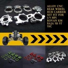 Alloy CNC Rear Wheel Hub Carrier Set Fit for 1/5 HPI ROVAN KM BAJA 5B 5T 5SC  LOSI TDBX FS RC Racing Parts Accessory
