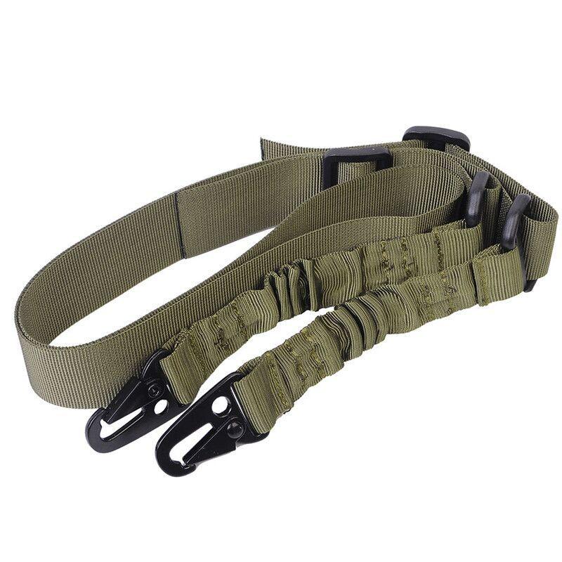 Correa táctica, tarea de un solo punto del ejército con cuerda, correa de seguridad de cordón de 2 puntos CS, cuerda de pistola táctica de tres puntos