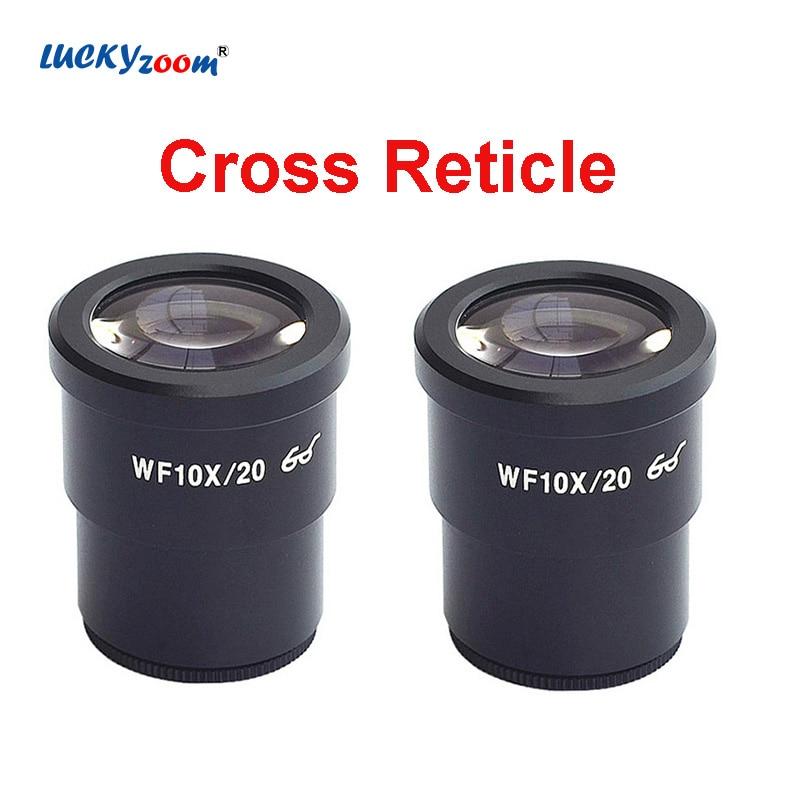Microscopio ocular de punto de ojo alto, lente ocular de retícula cruzada...