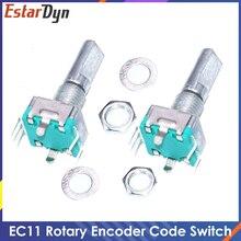Original,Rotary encoder,Code Switch/EC11/ Audio Digital Potentiometer,With Switch,5Pin, Handle Length 20mm