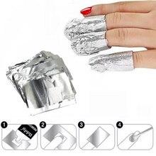 100Pcs/Lot Aluminium Foil Nail Art Soak Off Acrylic Gel Polish Nail Removal Wraps Remover Makeup Tool Nail Carel