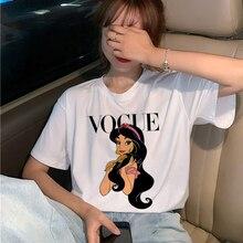 Camiseta de princesa a la moda Harajuku Ullzang para mujer, camiseta gráfica divertida de dibujos animados 90 s, camiseta estética estilo coreano, camisetas femeninas