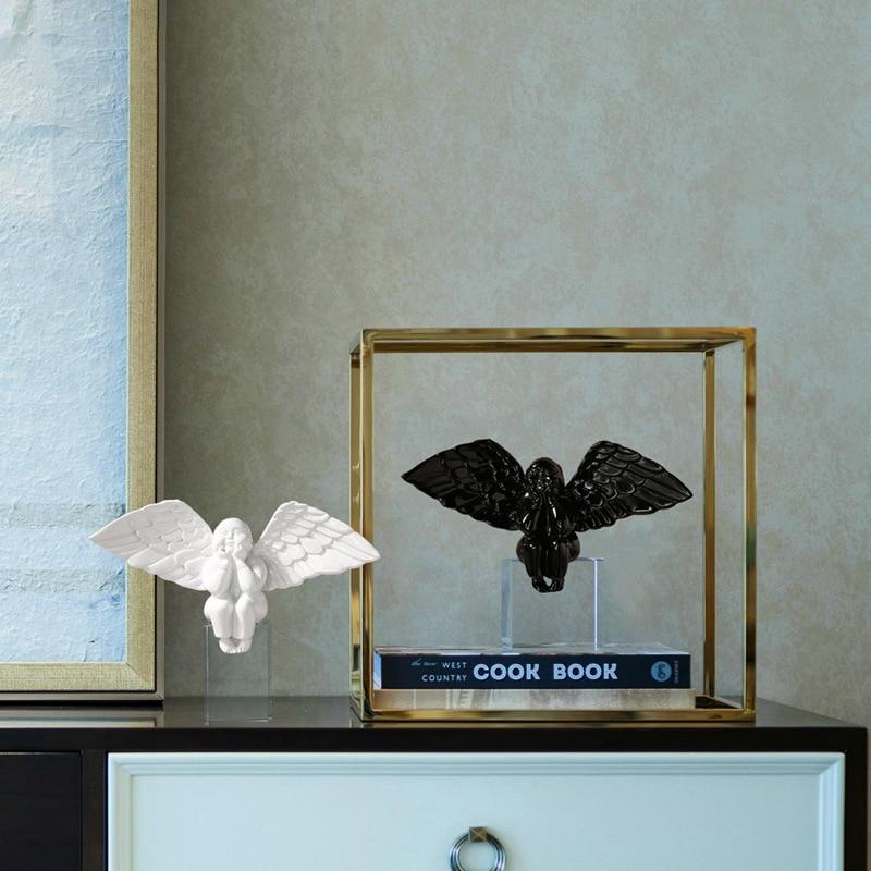 Angel Boy Modern Fashion Simple Light Luxury Living Room Wine Cabinet Bedroom Bookshelf Office Home Decor Decoration Nordic
