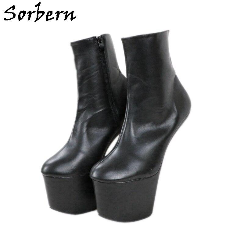 Sorbern-حذاء نسائي بكعب Hoof ، أسود غير لامع ، للجنسين ، للملهى الليلي ، أحذية نسائية Gaga