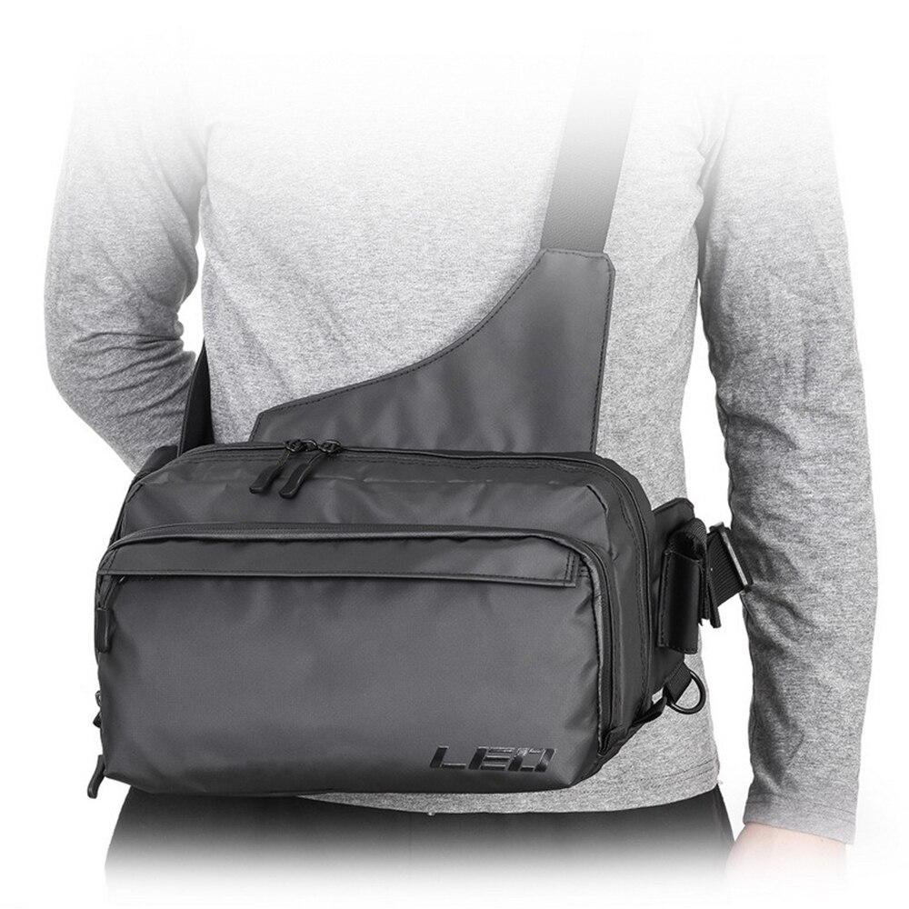 Bolsa de pesca Leo impermeable EVA aparejos de pesca bolsa de señuelo multiusos para fotografía al aire libre carrete portador hombres cintura bolso de hombro