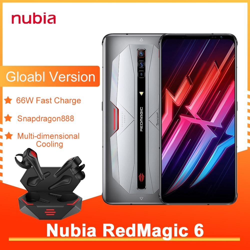 Игровой смартфон Nubia Red Magic 6 Pro, глобальная версия, NFC, AMOLED экран 6,8 дюйма, Восьмиядерный процессор Snapdragon 888, быстрая зарядка 30 Вт, RedMagic 6 Pro