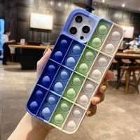 antistress sensory game hot fidget reliver stress toys push it bubble silicone case for iphone11 12pro max x xs xr 7 8p coque