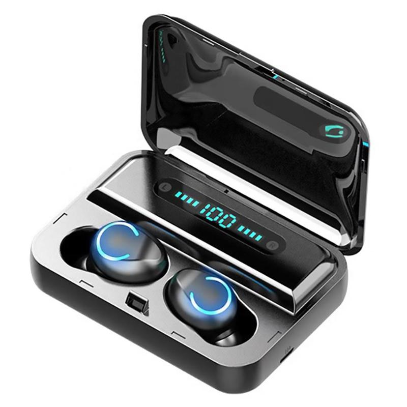 F9-8 Bluetooth 5.0 TWS Earphone Digital Display Headsets Touch Button LED Wireless Earphones True Earbuds Stereo Headphones